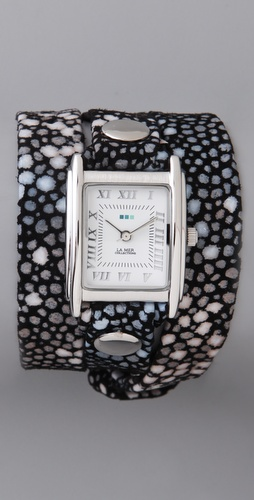 La Mer Collections Stingray Simple Wrap Watch