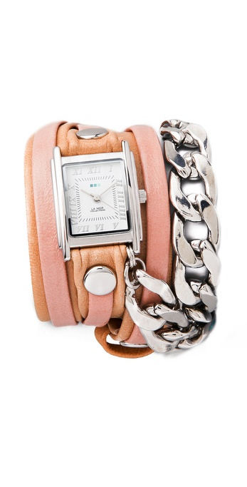La Mer Collections Malibu Chain Wrap Watch