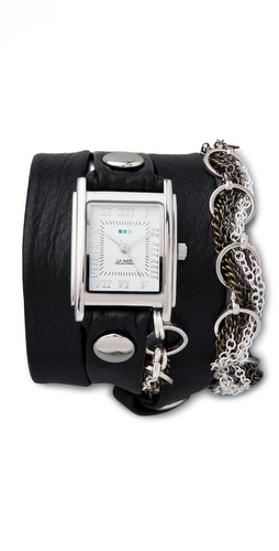 La Mer Collections Volcano Chain Wrap Watch