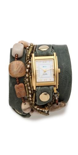 La Mer Collections Jasper Stones Wrap Watch