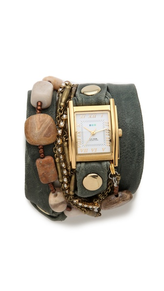 La Mer Collections Jasper Stones Wrap Watch