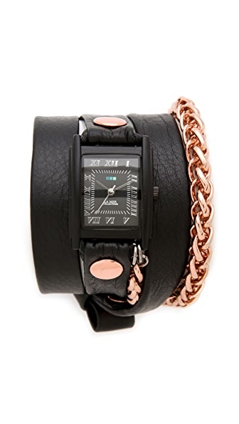 La Mer Collections Motor Chain Wrap Watch