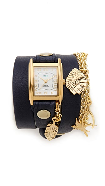 La Mer Collections Peace Charm Wrap Watch