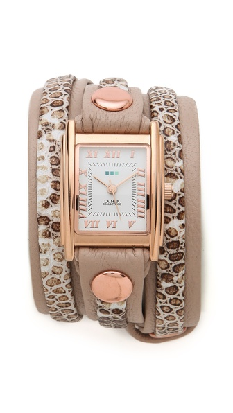 La Mer Collections Snake Layered Wrap Watch from shopbop.com