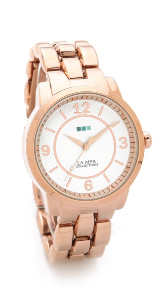 La Mer Collections Oversized Tuscany Link Watch