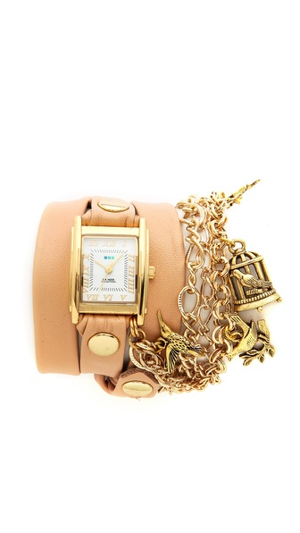 La Mer Collections Birdcage Charm Wrap Watch