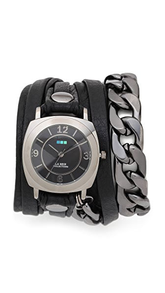 La Mer Collections Corsica Chain Wrap Watch