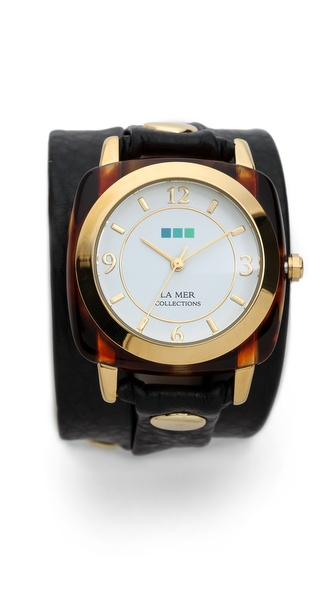 La Mer Collections Tortoise Wrap Watch