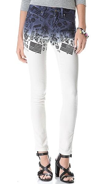 L'AMERICA Thrasher Cigarette Leg Jeans