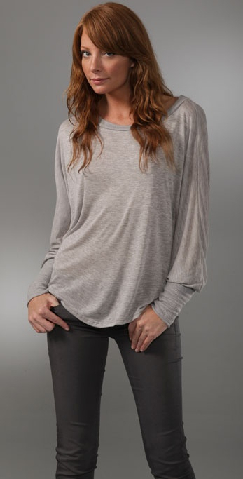 Lanston Dolman Long Sleeve Top