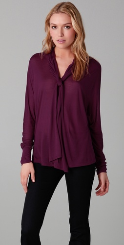 Lanston Dolman Tie Blouse