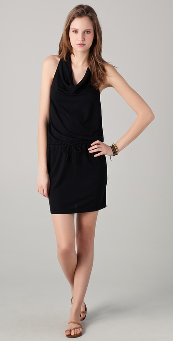 Lanston Racer Back Drape Mini Dress