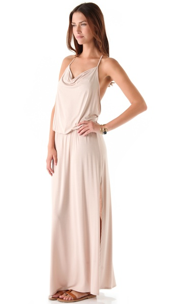 Lanston Drape Racer Back Maxi Dress - Blush at Shopbop / East Dane