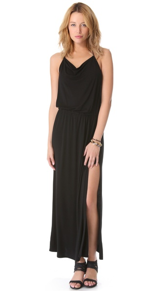 Lanston Drape Racer Back Maxi Dress - Black at Shopbop / East Dane