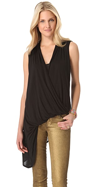 Lanston Asymmetrical Drape Top