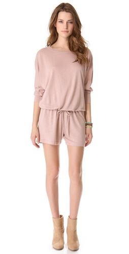 Lanston Boyfriend Romper at Shopbop.com
