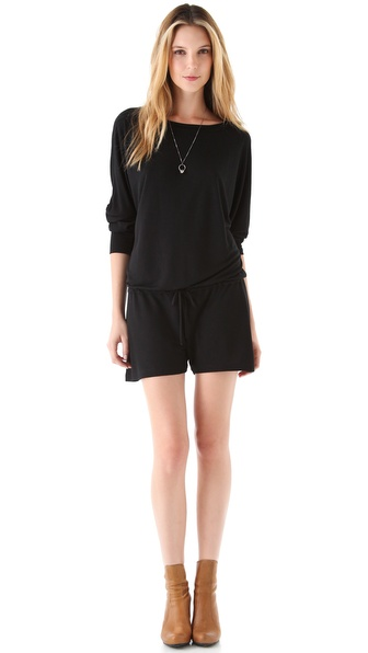 Lanston Boyfriend Romper - Black at Shopbop / East Dane