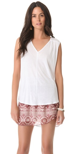Lanston Shirred V Tank at Shopbop / East Dane