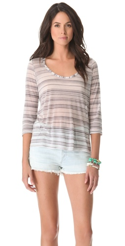 Lanston 3/4 Sleeve Scoop Tee at Shopbop.com