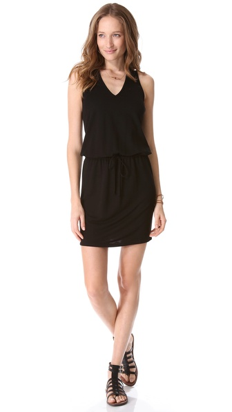 Lanston V Neck Dress with Racer Back