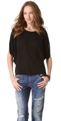 Lanston Oversized Draped Tee at Shopbop.com
