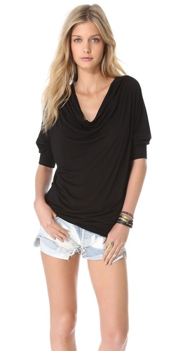 Lanston Fine Gauge Drape Top at Shopbop / East Dane