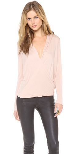 Lanston Surplice Long Sleeve Top at Shopbop / East Dane