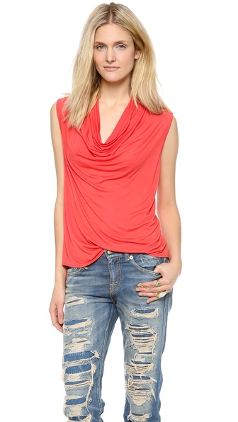 Lanston Drape Tank - Poppy at Shopbop / East Dane
