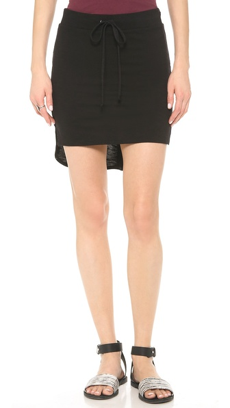 Lanston Shirttail Miniskirt - Black at Shopbop / East Dane