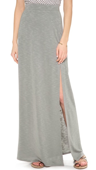 Lanston Maxi Skirt With Slit - Carbon at Shopbop / East Dane