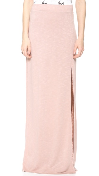 Lanston Maxi Skirt With Slit - Blush at Shopbop / East Dane