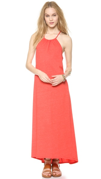 Lanston High Neck Halter Maxi Dress - Poppy at Shopbop / East Dane