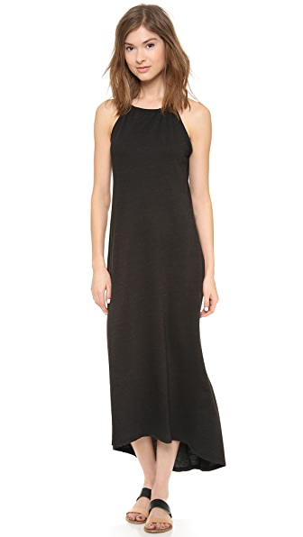 Lanston High Neck Halter Maxi Dress