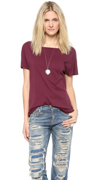Lanston Boatneck Tee - Fig at Shopbop / East Dane