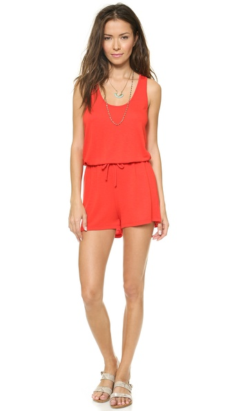 Lanston Tank Romper - Fire at Shopbop / East Dane