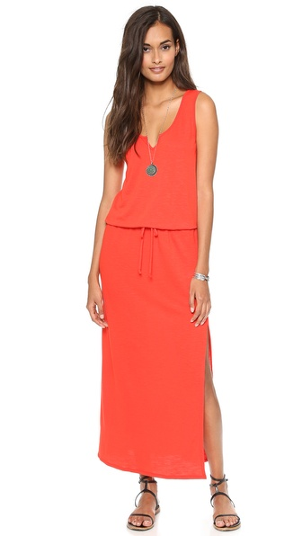 Lanston Split V Maxi Dress - Fire at Shopbop / East Dane