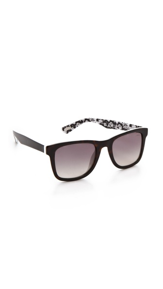 Lanvin Square Frame Sunglasses Dark Havana/Gradient Smoke