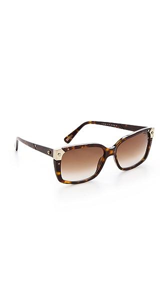 Lanvin Square Sunglasses with Screw Details