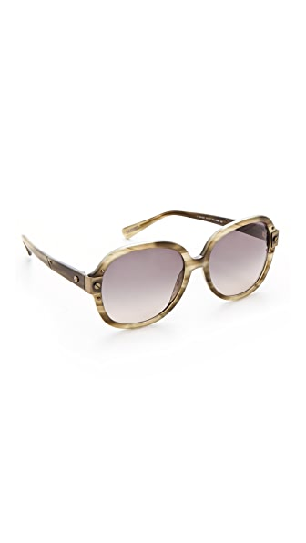 Lanvin Round Sunglasses with Screw Detail