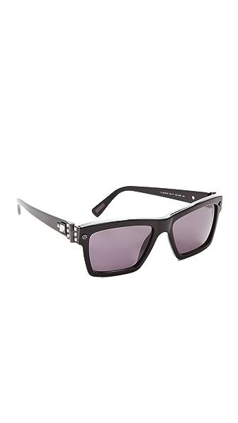 Lanvin Square Sunglasses with Swarovski Crystals