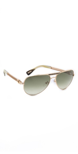 Lanvin Mesh Aviator Sunglasses at Shopbop / East Dane