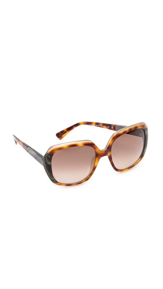 Lanvin Classic Gradient Sunglasses - Light Havana/Gradient Brown at Shopbop