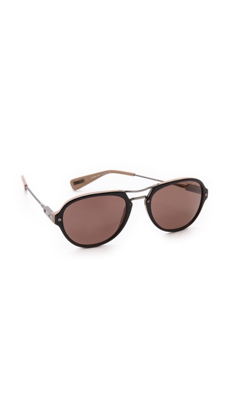 Lanvin Aviator Sunglasses - Black/Brown at Shopbop