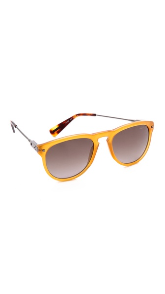 Lanvin Classic Sunglasses - Orange/Brown at Shopbop / East Dane