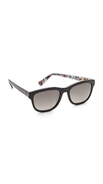 Lanvin Thick Frame Sunglasses - Shiny Black/Brown at Shopbop