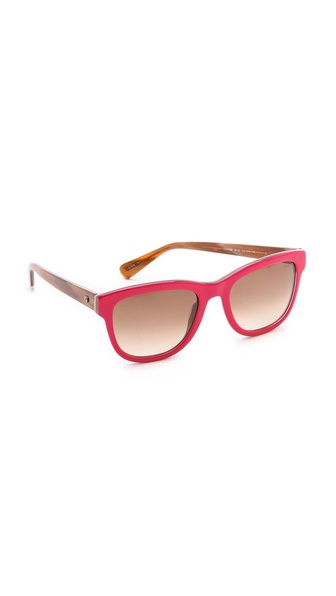 Lanvin Thick Frame Sunglasses - Shiny Red/Brown at Shopbop