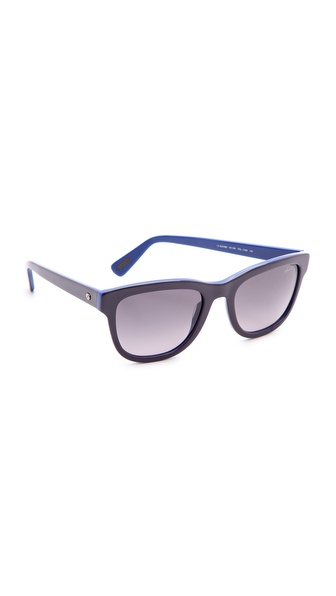 Lanvin Thick Frame Sunglasses - Navy/Gradient Blue at Shopbop