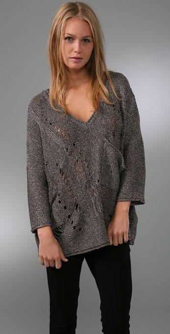 LaROK LUXE Anika V Neck Sweater