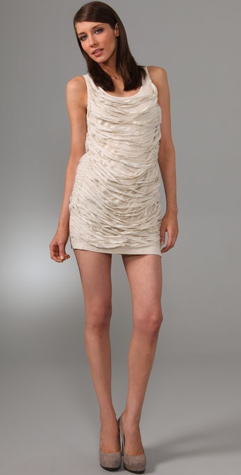 LaROK LUXE Delicate Frayed Dress