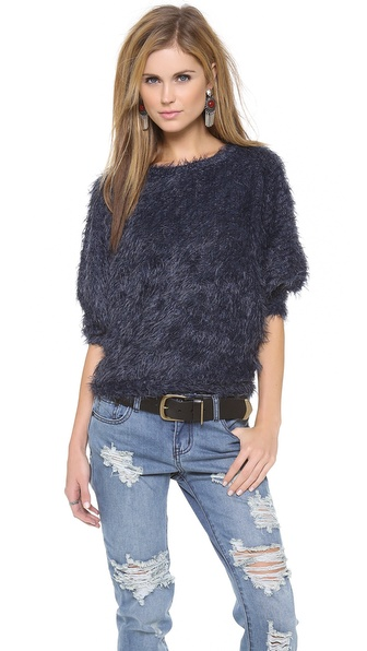 LA't by L'AGENCE Shaggy Dolman Sweater